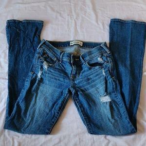 Abercrombie kids girls distressed denim jeans
